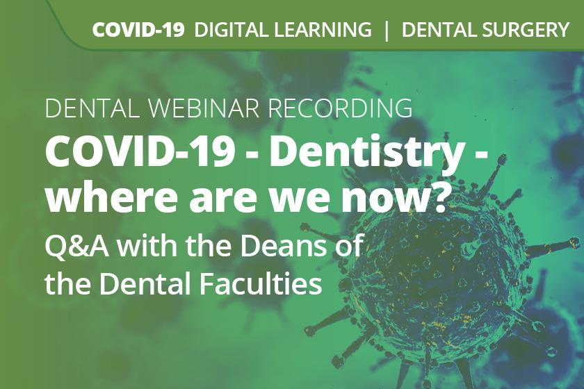 COVID-19 - Dentistry: Where are we now?